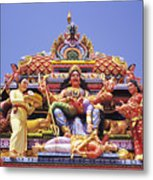 Sri Krishnan Temple Metal Print