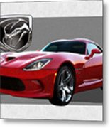 S R T  Viper With  3 D  Badge  Metal Print
