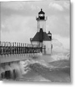St. Joseph North Pier Lighthouse Metal Print