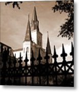 St Louis Cathedral Metal Print