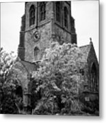 St Nicholas Church Including Graveyard Containing Grave Of Mildred Washington Grandmother Of George  Metal Print