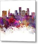 St. Paul Skyline In Watercolor Background Metal Print