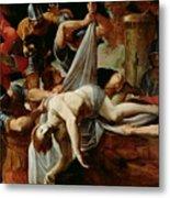 St Sebastian Thrown Into The Cloaca Maxima Metal Print