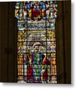 Stained Glass - Cathedral Of Seville - Seville Spain Metal Print