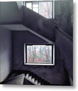 Stairs And Windows Metal Print