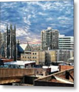 Stamford Cityscape Metal Print