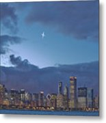Star Over Chicago Metal Print