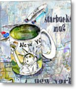 Starbucks Mug New York Metal Print