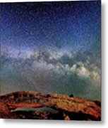 Starry Night Over Mesa Arch Metal Print