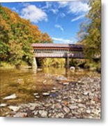 State Road Covered Bridge Metal Print