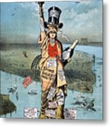 Statue Of Liberty Cartoon Metal Print