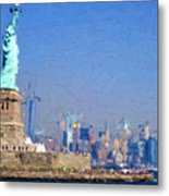 Statue Of Liberty, Nyc Metal Print