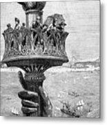 Statue Of Liberty: Torch Metal Print