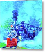Edison Locomotive Metal Print