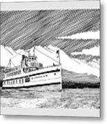 Steamship Virginia V Metal Print