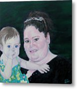 Stephanie And Ella Metal Print