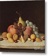 Still Life With Fruit And Nuts Metal Print