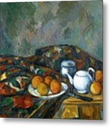 Still Life With Teapot Metal Print