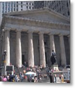 Stock Exchange On Wall Street Metal Print