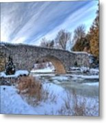 Stone Bridge At Webster Falls Metal Print