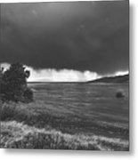 Storm Brewing Over The Mud Flats Metal Print