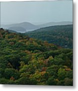 Storm Clouds Over Fall Nature Scenery Metal Print