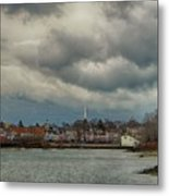 Storm Clouds Over The Bass River Metal Print