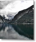 Storm In The Fiord Metal Print