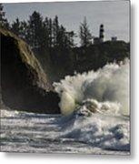 Storm Surf Metal Print