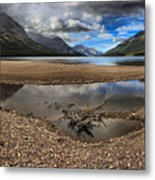 Storms Over Upper Waterton Lake Metal Print