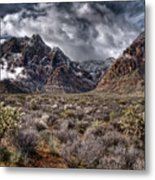 Stormy Day At Red Rock Metal Print