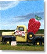 Strawberry Truck Metal Print