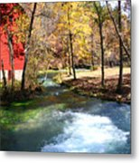 Stream Running Metal Print