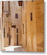 Street Sceane Mdina,malta Metal Print