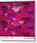 Striae To My Heart ... Pinks Metal Print