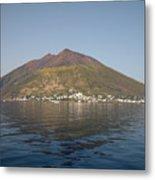 Stromboli Volcano, Aeolian Islands Metal Print