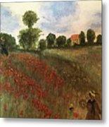 Study Of Monet Metal Print