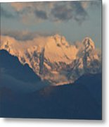 Stunning Countryside Of Northern Italy With The Alps  Metal Print