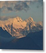 Stunning Landscape In The Italian Alps With A Cloudy Sky  Metal Print