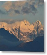 Stunning Landscape View Of The Italian Alps  Metal Print