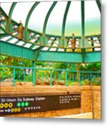 Subway Station 2 Metal Print