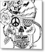 Sugar Skull #3  War And Peace Metal Print
