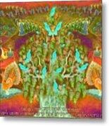Sukkot- Prayer In The Sukkah Metal Print