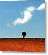 Summer Field With Two Trees 2 Ae2 Metal Print