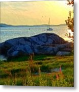 Summer Sunset View Metal Print