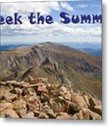 Summit Of Mount Bierstadt In The Arapahoe National Forest Metal Print