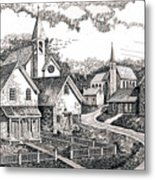 Sunday Houses Along Old Church Street Metal Print