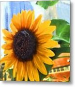 Sunflower In The City Metal Print