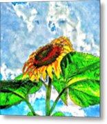 Sunflower In The Sky Metal Print