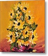 Sunflowers For You Metal Print